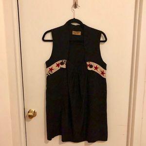 Karen Zambos Black Tunic Top